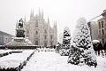 Wintereinbruch in Piazza-del-Duomo-Milan-08.01.2008. - Wintereinbruch in Europa 2008-2009 bis zu minus 30 Grad